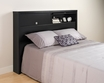Black Full/Queen 2 Door Headboard - PREPAC - BHFX-0502-1