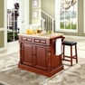 Butcher Block Kitchen Island w/ Saddle Stools - Crosley - KF300064CH