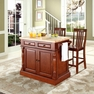 Butcher Block Kitchen Island w/ School House Stools - Crosley - KF300062CH