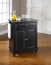Cambridge Granite Top Portable Kitchen Island - Crosley - KF30024DBK