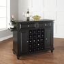 Cambridge Granite Top Wine Island in Black - Crosley - KF31004DBK