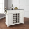 Cambridge Granite Top Wine Island in White - Crosley - KF31003DWH