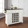 Cambridge Granite Top Wine Island in White - Crosley - KF31004DWH
