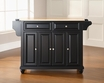 Cambridge Kitchen Island in Black - Crosley - KF30001DBK