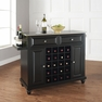 Cambridge Stainless Steel Wine Island in Black - Crosley - KF31002DBK