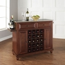 Cambridge Stainless Steel Wine Island in Mahogany - Crosley - KF31002DMA