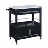 Cameron Kitchen Cart With Granite Top - Linon Home Decor - 464809BLK01U
