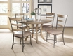 Charleston Round Wood Table w/Metal Ring - Hillsdale - 4670DTBW