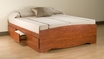 Cherry Full Platform Storage Bed w/ 6 Drawers - PREPAC - CBD-5600-3K