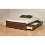 Cherry Full Platform Storage Bed w/ 6 Drawers  - PREPAC - LBD-5600-3KV