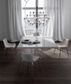 Clarges Dining Table - White Lacquer on Stainless - MJK169-IAL6 - MODLOFT