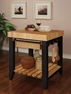 Color Story Black Butcher Block Kitchen Island - Powell - 502-416