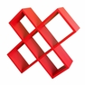 Crisscross Media Wall Storage - Red - R5422RD - ORE