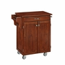 Cuisine Kitchen Cart in Cherry w/ Cherry Top - Home Styles - 9001-0077G