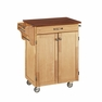 Cuisine Kitchen Cart in Natural w/ Cherry Top - Home Styles - 9001-0017G