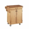 Cuisine Kitchen Cart in Natural w/ Oak Top - Home Styles - 9001-0016G