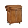 Cuisine Kitchen Cart in Oak w/ Oak Top - Home Styles - 9001-0066G
