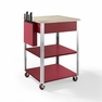 Culinary Prep Kitchen Cart in Red - Crosley - CF3009-RE