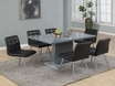 Dining Set High Glossy Charcoal Grey - Monarch - I 1091