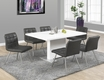 High Glossy Dining Table in White - Monarch - I 1090