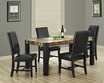 Dining Table Distressed Black - Monarch - I 1620