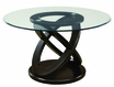 Dining Table Espresso Glass - Monarch - I 1749