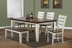Dining Table in Antique White & Oak w/ Leaf - Monarch - I 1852