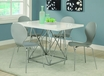 Dining Table White Glossy - Monarch - I 1046