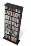 Double Multimedia Storage Tower in Black - PREPAC - BMA-0320