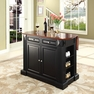 Drop Leaf Kitchen Island in Black - Crosley - KF30007BK