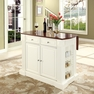 Drop Leaf Kitchen Island in White - Crosley - KF30007WH