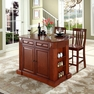 Drop Leaf Kitchen Island w/ School House Stools - Crosley - KF300072CH