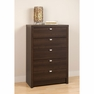 Espresso 5 Drawer Chest - PREPAC - EDBR-0550-1