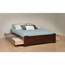 Espresso Full Platform Storage Bed w/ 6 Drawers - PREPAC - EBD-5600-3K