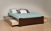 Espresso Full Platform Storage Bed w/ 6 Drawers  - PREPAC - EBD-5600-3KV