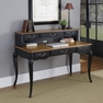 French Countryside Black Executive Desk and Hutch - Home Styles - 5519-152