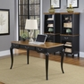 French Countryside Black Executive Desk - Home Styles - 5519-15