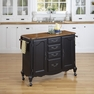 French Countryside Black Kitchen Cart - Home Styles - 5519-95