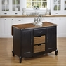 French Countryside Black Kitchen Island - Home Styles - 5519-94