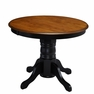 French Countryside Black Pedestal Dining Table - Home Styles - 5519-30