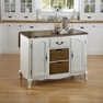 French Countryside White Kitchen Island - Home Styles - 5518-94