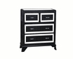 Glamour 4-Drawer Chest in Black - Powell - 14A2019COB