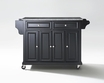 Granite Top Kitchen Cart/Island in Black - Crosley - KF30003EBK