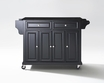 Granite Top Kitchen Cart/Island in Black - Crosley - KF30004EBK
