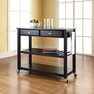 Granite Top Kitchen Cart/Island in Black - Crosley - KF30054BK