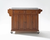 Granite Top Kitchen Cart/Island in Cherry - Crosley - KF30003ECH