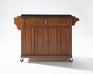 Granite Top Kitchen Cart/Island in Cherry - Crosley - KF30004ECH