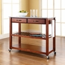 Granite Top Kitchen Cart/Island in Cherry - Crosley - KF30053CH