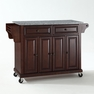 Granite Top Kitchen Cart/Island in Mahogany - Crosley - KF30003EMA