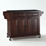 Granite Top Kitchen Cart/Island in Mahogany - Crosley - KF30004EMA